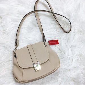 NWT Rossetti Cream Small Sensation Handbag 10x7x3